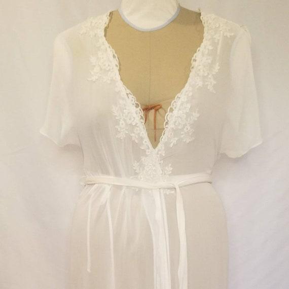 Bridal White Chiffon Robe