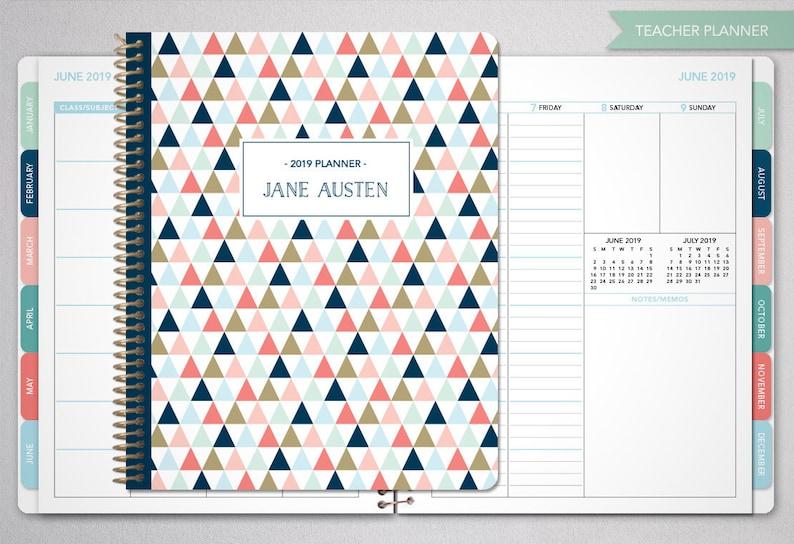 Calendario Allergie 2020.2019 2020 Insegnante Planner 2019 2020 Planner Insegnante Lezione Piano Maestro Planner Agenda Calendario Settimanale Tabs Marina Oro Triangolo