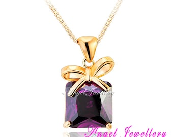 New 18K Rose Gold Necklace Pendant With Swarovski Crystal Elements Gift Pendant Ideal Present For Your Loved One