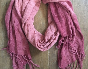 SALE: Handwoven Cotton Dip Dyed Scarves