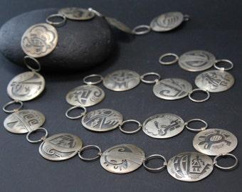 Sterling Hopi Belt, Native American Belt, Tribal Jewelry, Tribal Accessory, Silver Concho Belt, Hopi Jewelry, Authentic Native American Belt