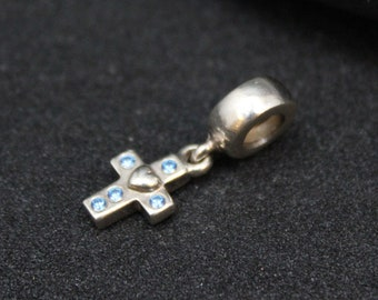 c09722053 ... pearl 790975p 7833a 9d0e0 clearance authentic pandora blue cz dangle  cross charm 790355czb pandora cross charm retired pandora charm silver ...
