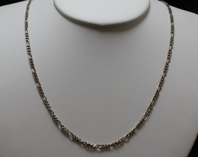 "20"" 3MM Sterling Silver Figaro Necklace"