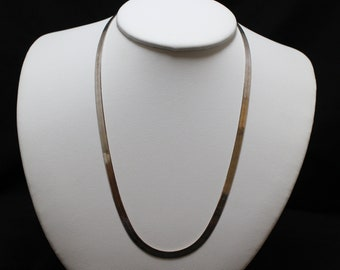 "18"" Sterling Silver Milor Herringbone Necklace Chain"