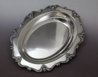 Victoria Sterling By Ellmore Oval Dish Bowl, Large Sterling Silver Oval Tray, Sterling Ellmore Dish, Victoria Sterling Silver Oval Dish