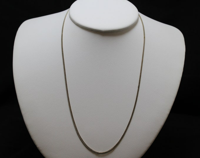 "18"" Sterling Silver Italian Curb Link Necklace"