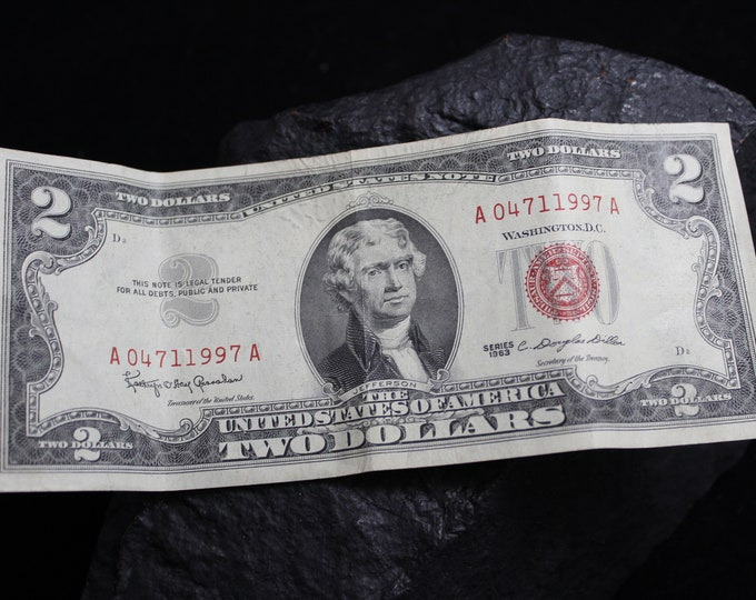 Series 1963 Red Seal Two Dollar Bill, United States Notes