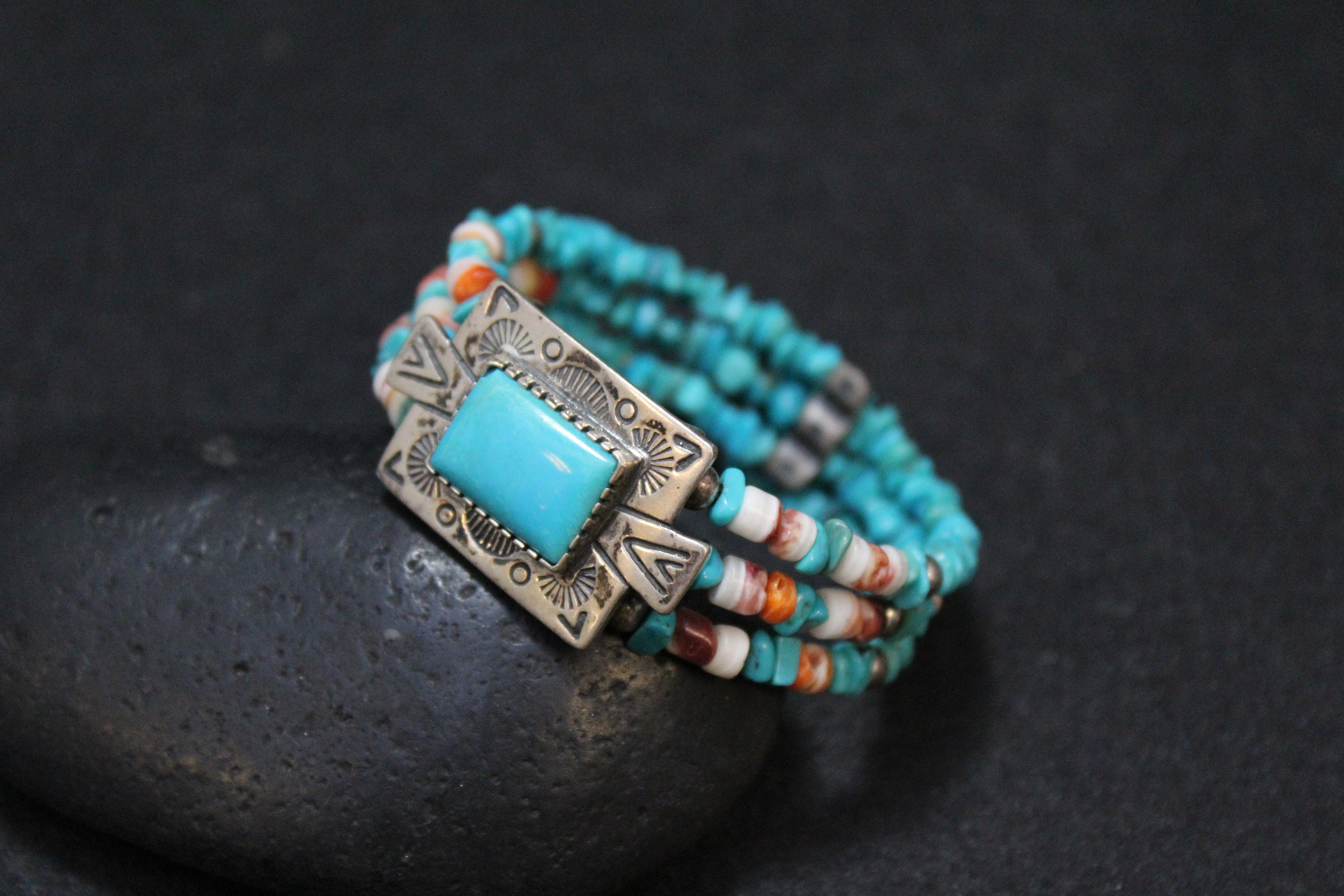 Carolyn Pollack Relios Sterling Silver and Turquoise Beads Wire Cuff ...