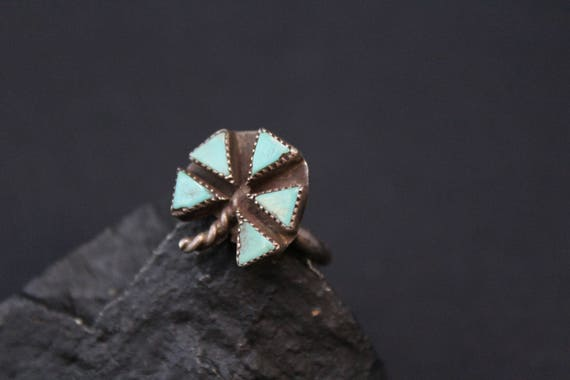 Old Pawn Sterling Silver Turquoise Native American