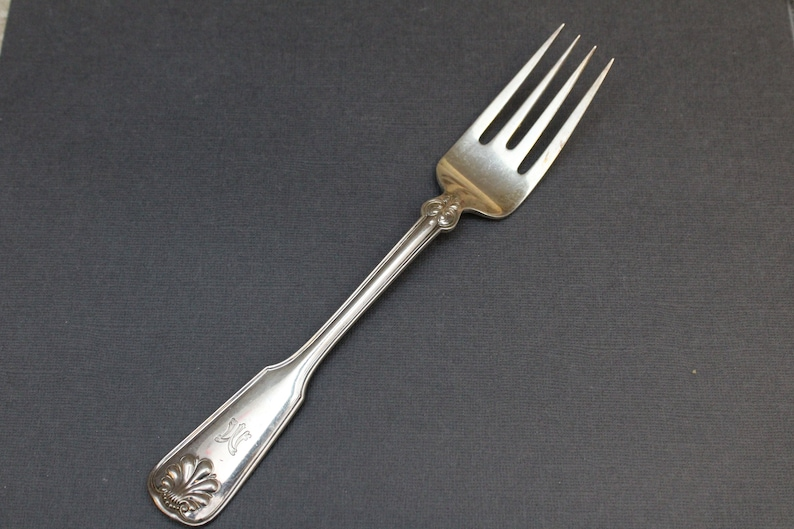Sterling Silver Tiffany & Co Shell and Thread Serving Fork image 0
