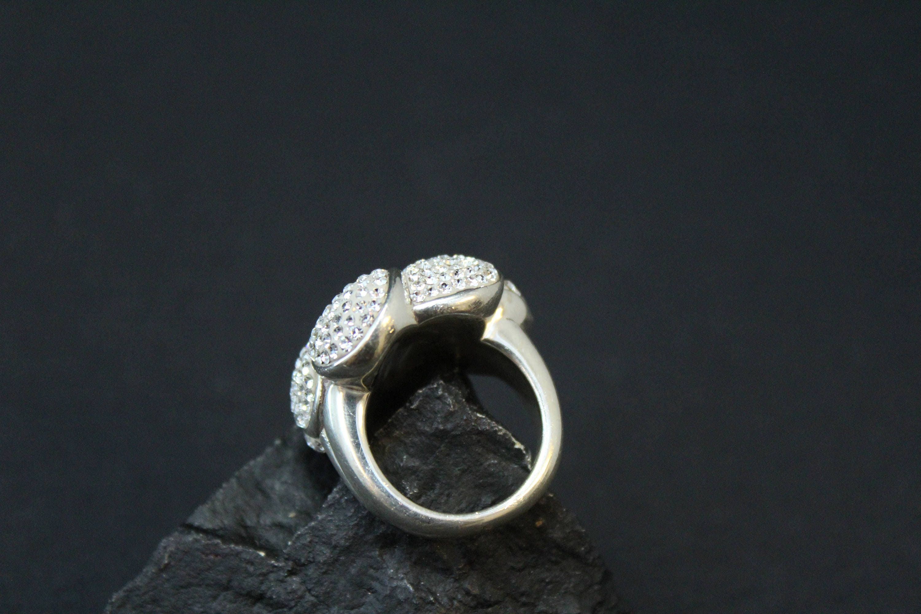 Sterling silver pave crystal flower ring sterling silver hawaiian gallery photo gallery photo gallery photo izmirmasajfo