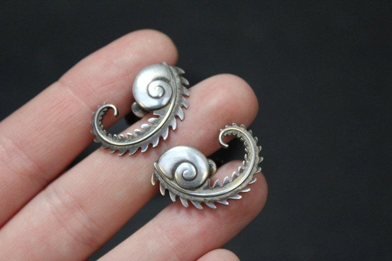 Georg Jensen Sterling Earrings Danish Sterling Earrings Sterling Silver Georg Jensen Snail Wreath Earrings #112 Georg Jensen Earrings