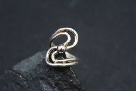 Simple Sterling Silver Swirl Ring, Sterling Swirl