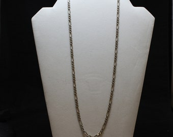 """24"""" Sterling Silver Figaro Link Chain Necklace, 4.5 mm Sterling Silver Figaro Necklace, Silver Figaro Necklace, Figaro Link Chain Necklace"""