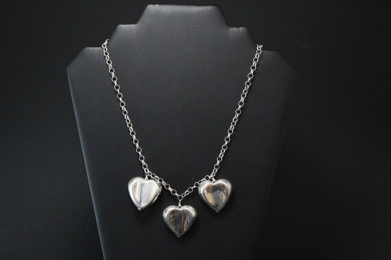 Sterling Silver Bold Heart Necklace, Heart Jewelry