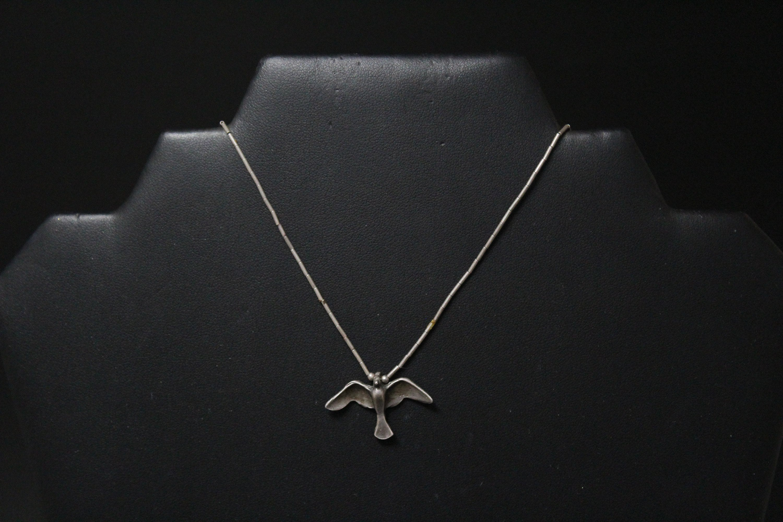 Indian Silver Bird Fetish Necklace - Other - Photo Xxx-7667