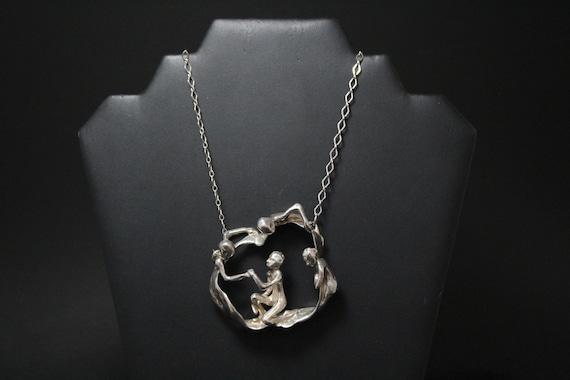 FANTASTIC Sterling Silver Large Brutalist Figure N