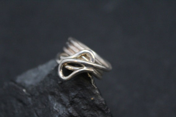 Simple Sterling Silver Swirl Band Ring, Sterling S