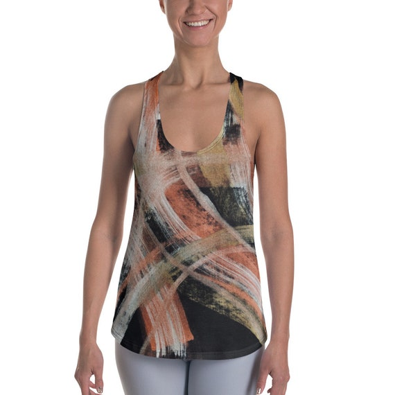 Women's Racerback Tanks - Super Soft Exercise Tanks - Yoga Shirts - Workout Tanks for Ladies - Colorful Shirts - Daily Tank Tops