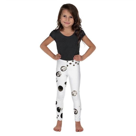 Kid's Leggings -Kids Black and White Pants - Dash Birthday Leggings - Birthday Outfit - Printed Leggings - Ballet pants - Toddler Leggings