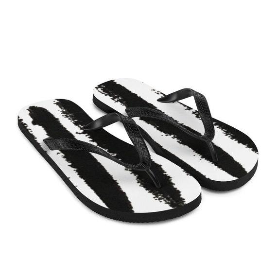 Imperfect Zebra Flip-Flops