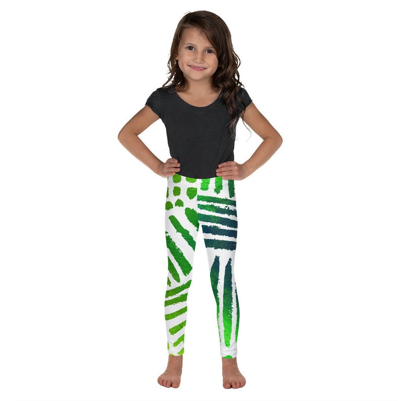 Tropical Pattern Green printed Leggings Birthday Outfit Clizia Kolor Kid/'s Girls Leggings Printed Leggings Ballet Leggings