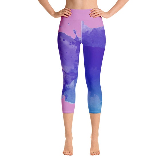 Yoga Capri Leggings - Plus Size Leggings -Premium Active Buttery Soft Workout Leggings -Gift - Athletic - Running - Fitness - Activewear
