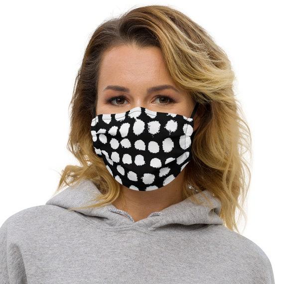 B&W Dots Premium face mask