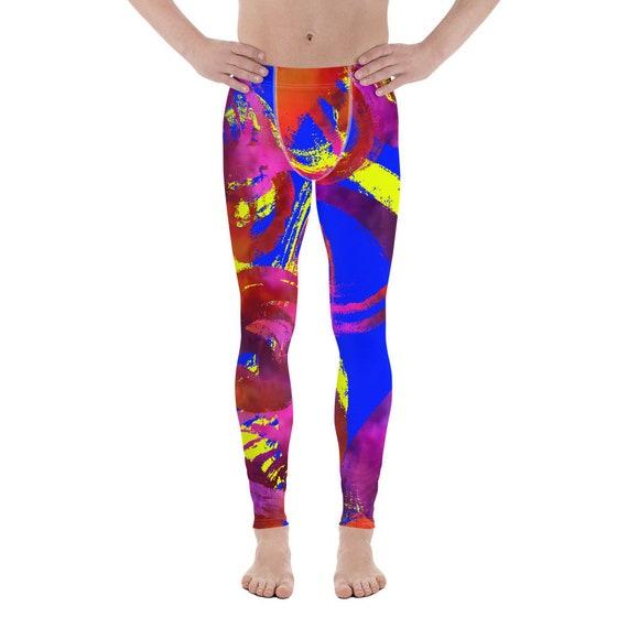Men's Leggings - Yoga Leggings- Plus Size Leggings -Premium Active Buttery Soft Workout Leggings - Athletic - Running - Fitness - meggings