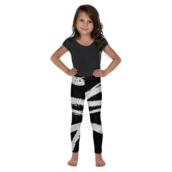Kid's Leggings - Kids Black and White Pants - Dash Birthday Leggings - Birthday Outfit - Printed Leggings - Ballet- Birthday Gift for kids