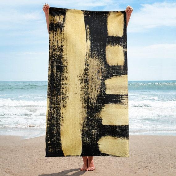 Gold Towel, Bath Spa Sauna Beach Towel Extra HIGH Quality towel , personalized towel, custom towel, birthday gift, Patterned Shapes