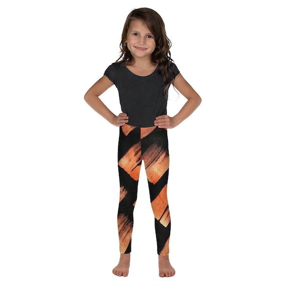 Imperfect asymmetric Kid's Leggings -Kids Black and White Pants - Dash Birthday Leggings - Birthday Outfit - Printed Leggings - Ballet