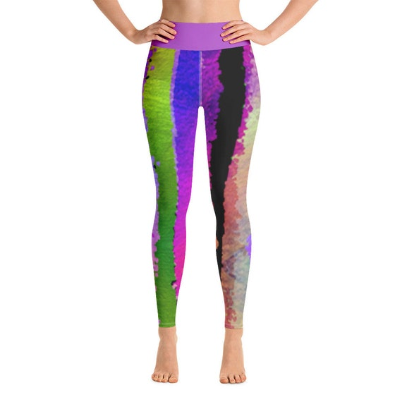 Colorful Yoga Leggings -Premium Active Buttery Soft Workout Leggings -Gift - Athletic - Running - Fitness - Activewear - Gift for her - Pop