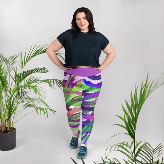 Yoga Plus Size Leggings -Premium Active Buttery Soft Workout Leggings -Gift - Athletic - Running - Fitness - Activewear