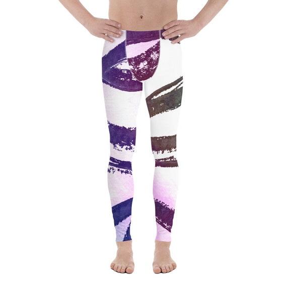 Men's Leggings - Men's pants - Premium Active Buttery Soft Workout pants - Athletic - Running - Fitness - Gymwear -Dancing Pants - Neon
