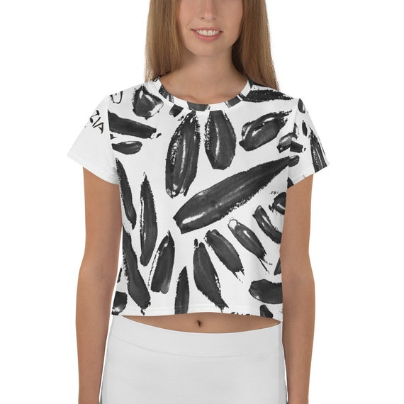 Imperfect leaves All-Over Print Crop Tee
