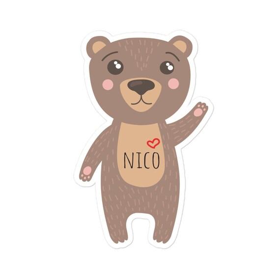 Custom Sticker, Bear, Personalized Sticker, Back to school Vinyl Decal, Bumper Car Laptop Sign, Choose Love, Cute Positive Kiss-Cut Stickers
