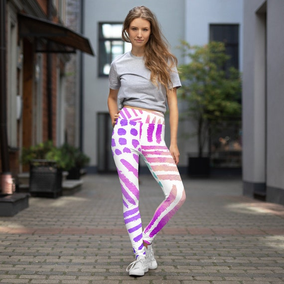 Clizia Kolor Yoga Leggings -Boho - Premium Active Buttery Soft Workout Leggings -Gift - Athletic - Running - Fitness - Activewear -Gift