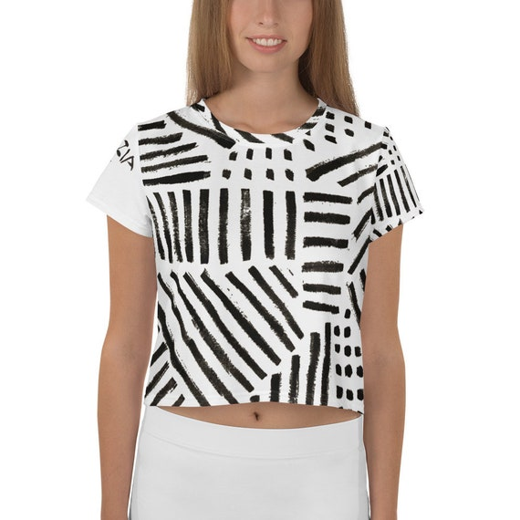 Imperfect 4 Clizia All-Over Print Crop Tee