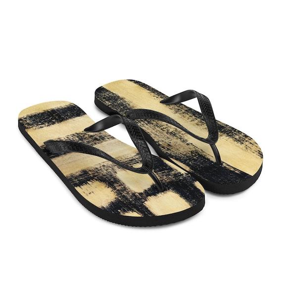 Imperfect Gold Flip-Flops