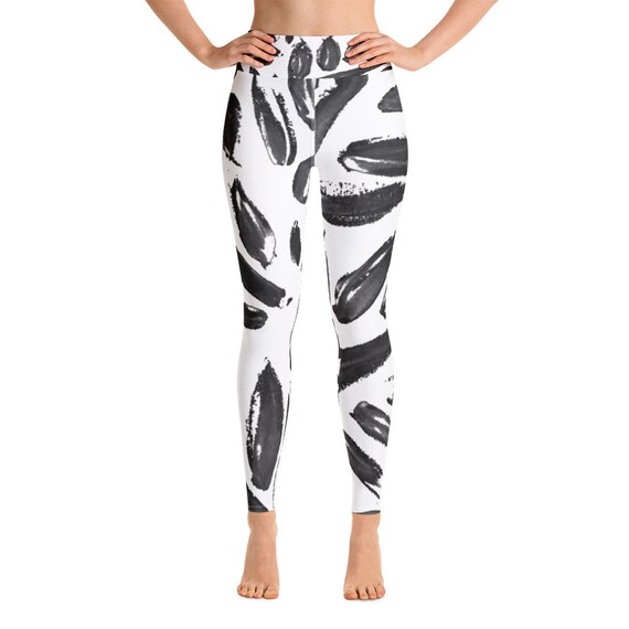 Women Leggings - Women's Premium Ultra Soft - Buttery Soft  Patterned Leggings - Hand painted style - Gym pants