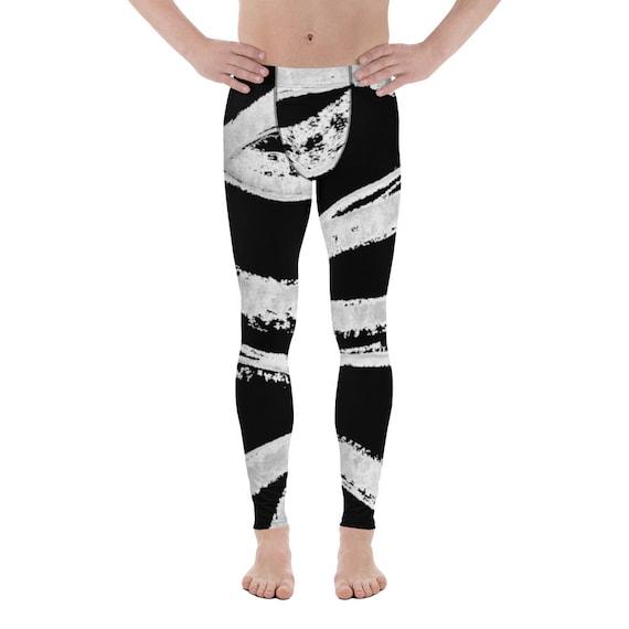 Yoga Men's Leggings Gym Butt Lifting Booty Running Tights Dancing Pants Soulcycle Yoga Pants Meggings Black White Fashion Man
