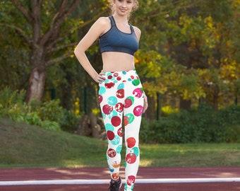Pattern leggings  - Women Leggings - Yoga Leggings - Women's Premium Ultra Soft - Buttery Soft Ankle Length Patterned Leggings - Dots