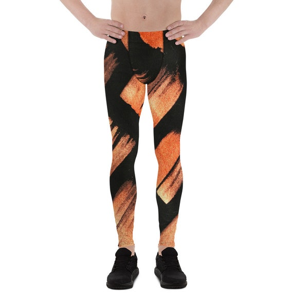 Men's Leggings Gym Butt Lifting Booty Running Tights Dancing Pants Soulcycle Yoga Pants Meggings Black and White  Fashion