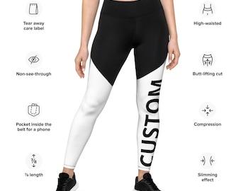Custom Leggings - All Size Leggings- compression fabric leggings - Workout Leggings - Sports Leggings - Women Leggings-Leggings with pocket