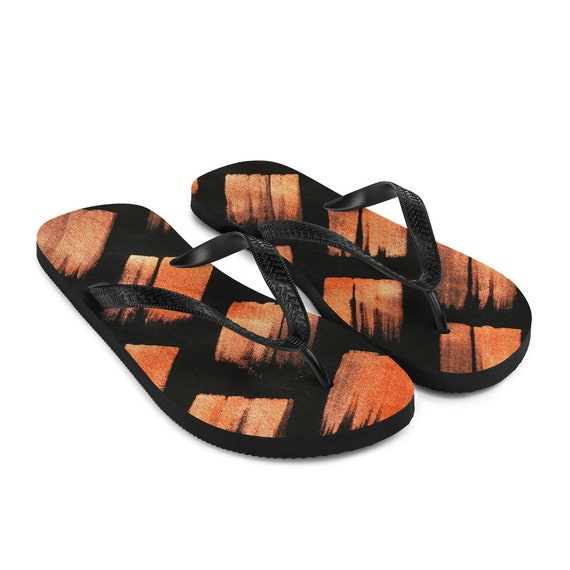 Imperfect Fire Flip-Flops