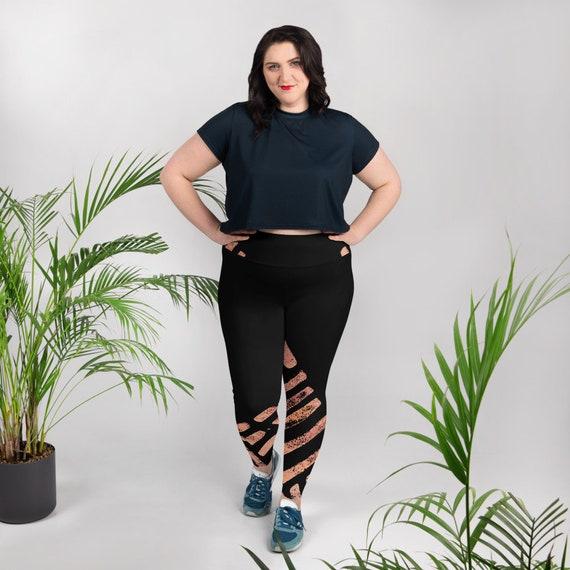 Plus Size Leggings - Premium Active Buttery Soft Workout Leggings - Athletic - Running - Fitness- Activewear - Pattern leggings