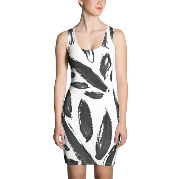 Imperfect Clizia Leaves Sublimation Cut & Sew Dress