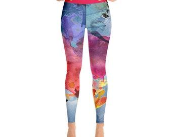 Yoga Leggings - Yoga Pants - Fitness Pants - Active Pants - Workout Pants - full length leggings - Soft High Waisted Yoga Leggings - Workout