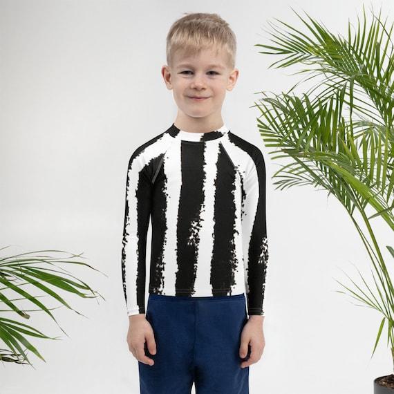 Imperfect Stripes Kids Rash Guard- Unisex Swimwear Jiujitsu BJJ Kids Rash Guard - Athletic Kid Rash Guard - Swimsuit - Kids Swimwear
